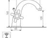 Схема Смеситель для раковины Giulini Kensington S3761A Современный / Скандинавский / Модерн