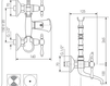 Схема Смеситель настенный Giulini Praga 7500 Современный / Скандинавский / Модерн