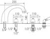 Схема Смеситель для ванны Giulini Praga 7560 Современный / Скандинавский / Модерн