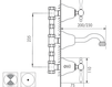 Схема Смеситель для раковины Giulini Praga 7523 Современный / Скандинавский / Модерн