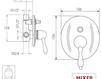 Схема Встраиваемый смеситель Giulini Praga 7511 Современный / Скандинавский / Модерн