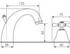 Схема Смеситель для раковины Giulini Lotus A512 Современный / Скандинавский / Модерн