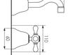 Схема Смеситель для раковины Giulini Lotus 0520 Современный / Скандинавский / Модерн