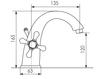 Схема Смеситель для раковины Giulini Lotus SA561 Современный / Скандинавский / Модерн
