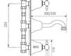 Схема Смеситель для раковины Giulini Praga Crystal 7523/S Современный / Скандинавский / Модерн