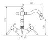 Схема Смеситель для биде Giulini Praga Crystal S7558A/S Современный / Скандинавский / Модерн