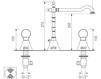 Схема Смеситель для раковины Giulini Odessa Crystal 3906A/S Современный / Скандинавский / Модерн