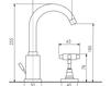 Схема Смеситель для раковины Giulini G5 Crystal 7912A/S Современный / Скандинавский / Модерн