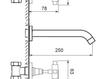 Схема Смеситель для раковины Giulini G5 Crystal 7920/S Современный / Скандинавский / Модерн