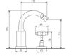 Схема Смеситель для биде Giulini G5 Crystal 7945A/S Современный / Скандинавский / Модерн