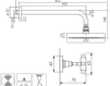 Схема Душевая система Giulini G5 Crystal 7915WB/S Современный / Скандинавский / Модерн