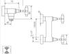 Схема Смеситель настенный Giulini G5 Crystal 7907/S Современный / Скандинавский / Модерн