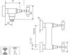 Схема Смеситель настенный Giulini G5 Crystal 7907WD/S Современный / Скандинавский / Модерн