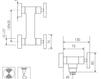 Схема Смеситель настенный Giulini GiÒ 3607WS Современный / Скандинавский / Модерн