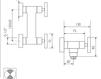 Схема Смеситель настенный Giulini GiÒ 3607 Современный / Скандинавский / Модерн