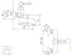 Схема Смеситель настенный Giulini Hermitage Crystal 4401/S Современный / Скандинавский / Модерн
