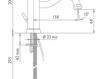 Схема Смеситель для раковины Giulini Hermitage Crystal 4433A/S Современный / Скандинавский / Модерн