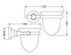 Схема Стакан для зубных щеток Giulini Ibisco Crystal RG1106/S Современный / Скандинавский / Модерн