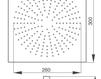 Схема Лейка душевая потолочная Giulini Programma Docce 1685/3/EX Современный / Скандинавский / Модерн
