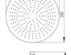 Схема Лейка душевая потолочная Giulini Programma Docce 1686/3/EX Современный / Скандинавский / Модерн