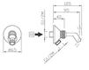 Схема Держатель для душевой лейки Giulini Programma Docce 1559 Современный / Скандинавский / Модерн