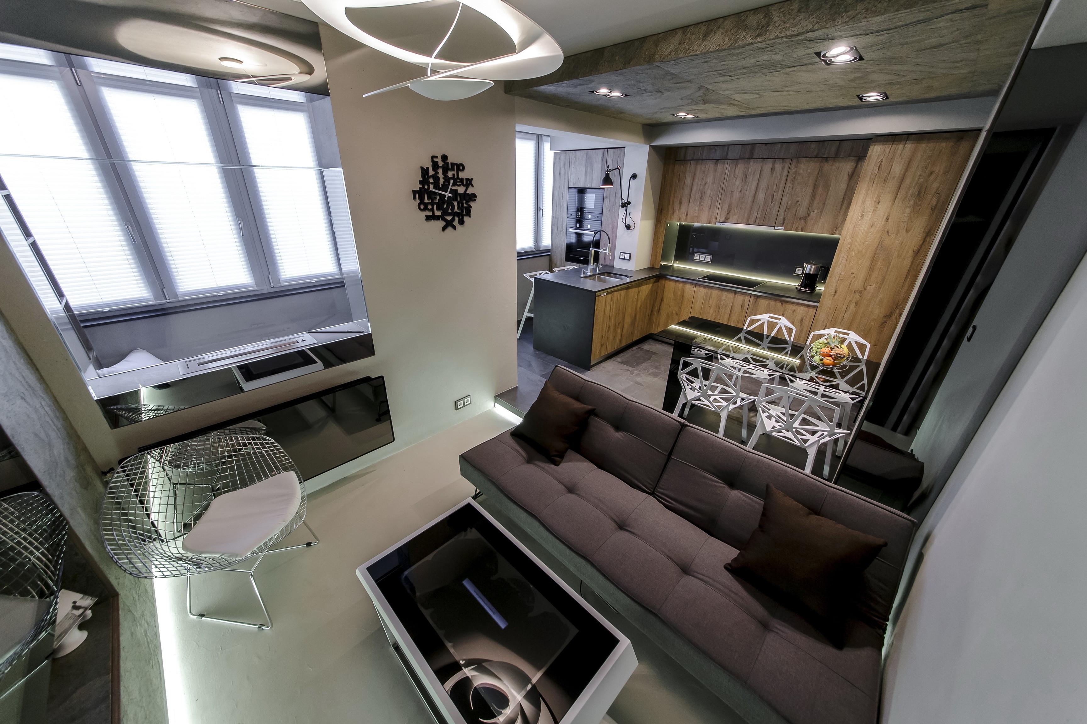 Дизайн кухни, совмещенной с балконом - 75 фото, идей и прави.