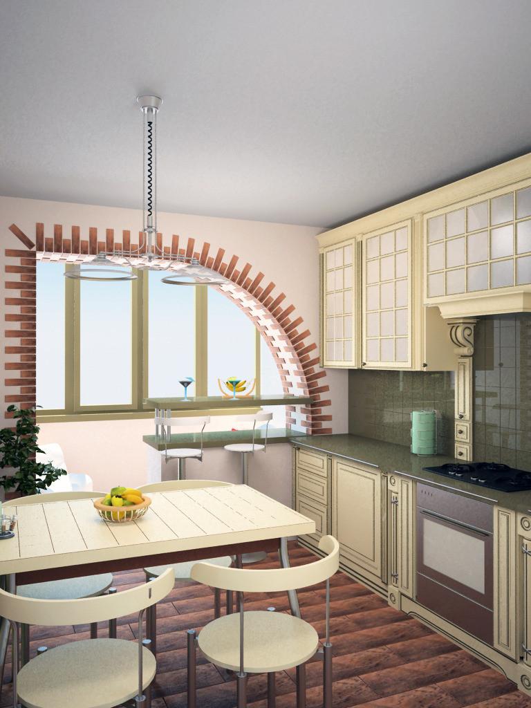 Проект - интерьер кухни, г.ростов-на-дону. дизайнер - михаил.