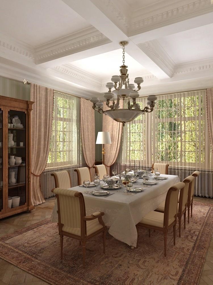 Дизайн столовая гостиная в частном доме фото