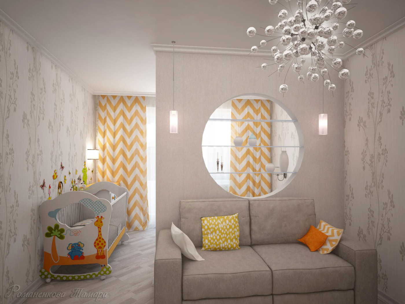Дизайн 2ух комнатной