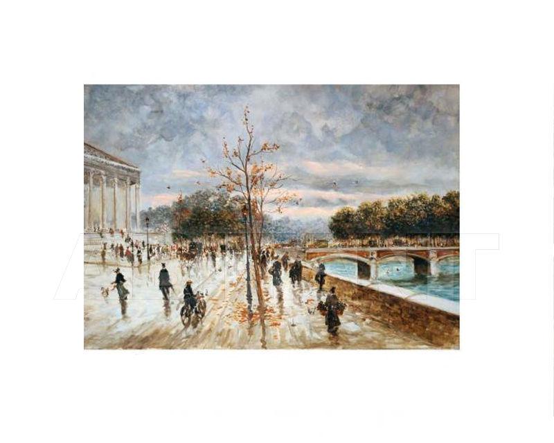 Купить Картина Main avenue near the river Barj - Buzzoni s.r.l. IMPRESSIONIST VIEWS 48