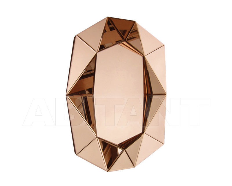 Купить Зеркало настенное Reflections by Hugau 2016 DIAMOND LARGE Vintage Rose Gold