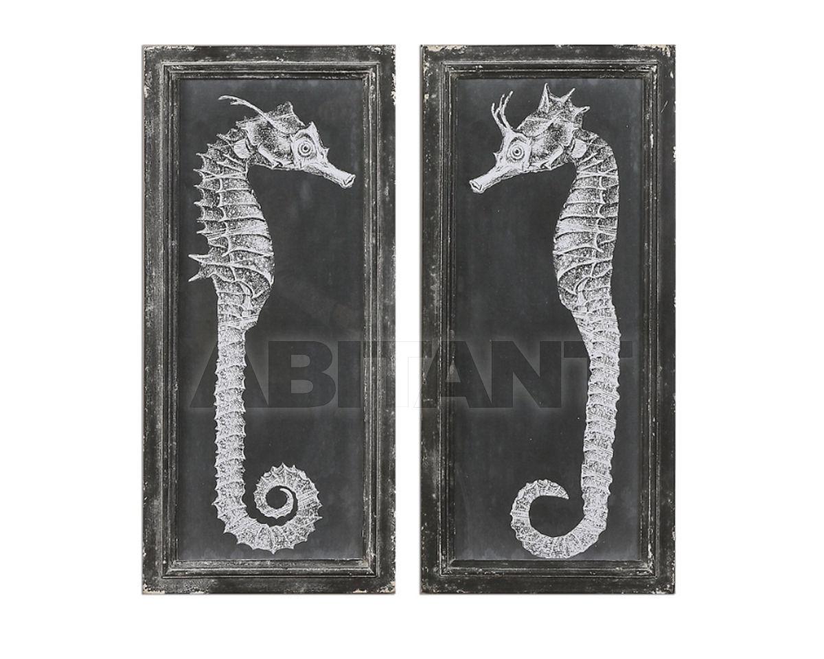 Купить Картина Seahorse Blueprints Uttermost Art 56062