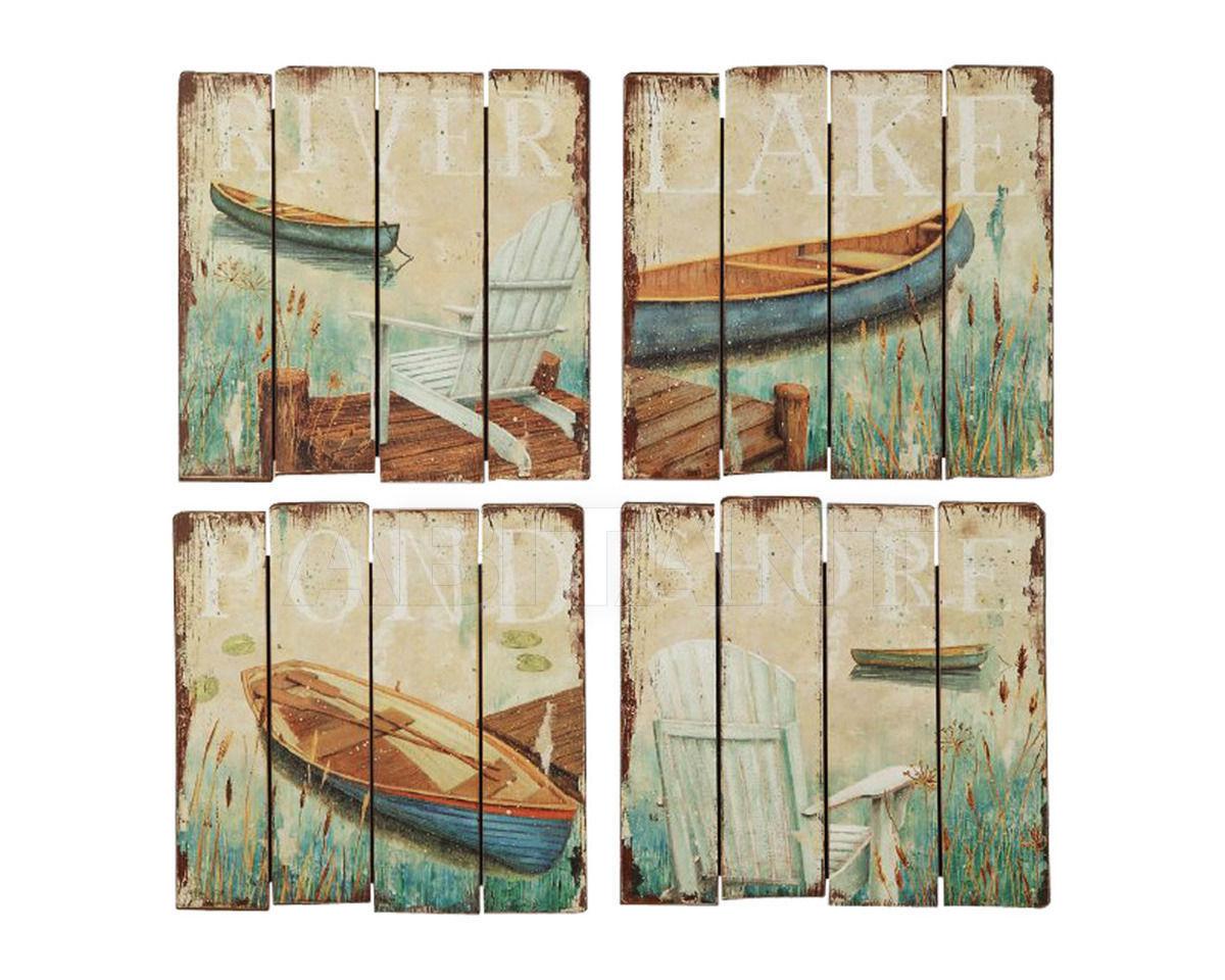 Купить Картина Square MDF Wall Plaque w/ Lake Image, 4 Styles Gramercy Home 2014 1/6-0759A