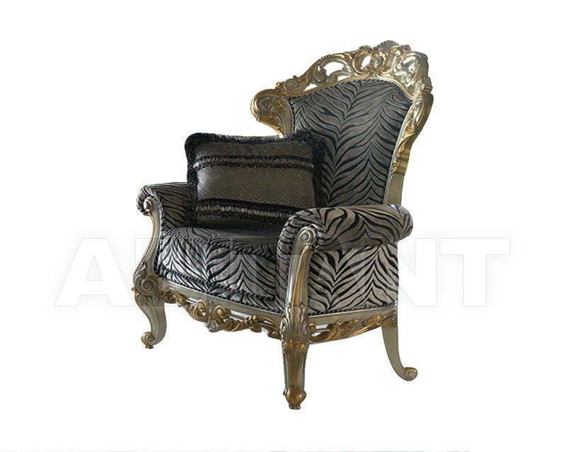 Купить Кресло Moblesa Gran Moble S.L. Comedor Gold UPHOLSTERED RELAX ARMCHAIR 1