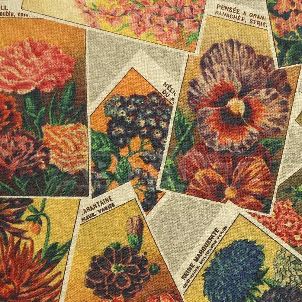 Купить Обивочная ткань Ian Sanderson Rustica SEED PACKETS Grande Vintage
