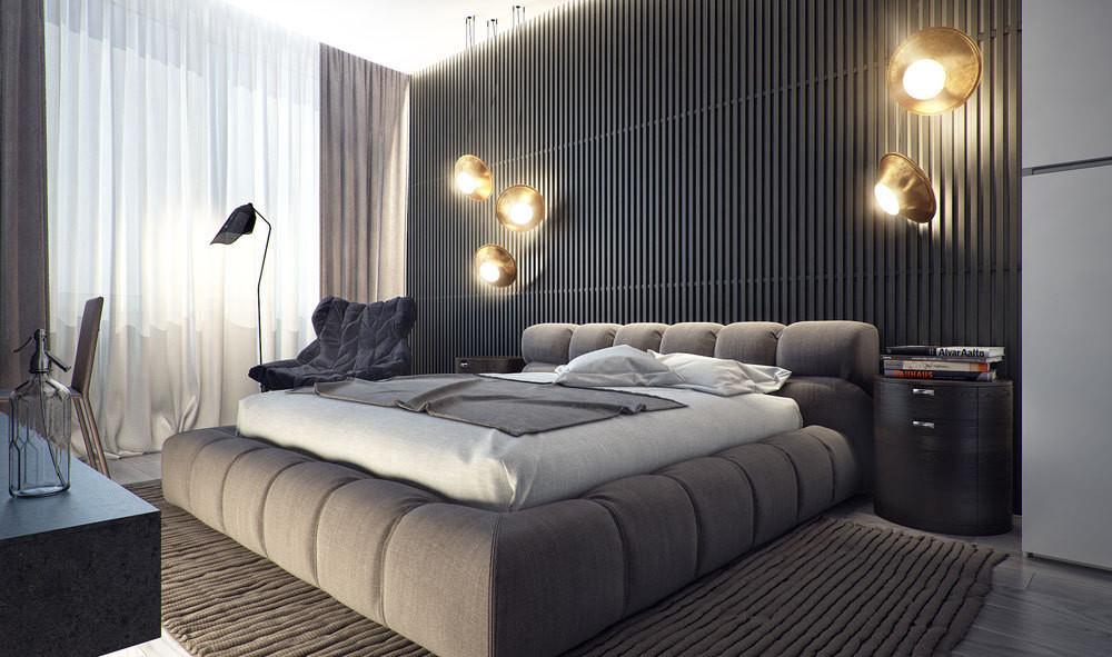 Спальня в мужском стиле фото