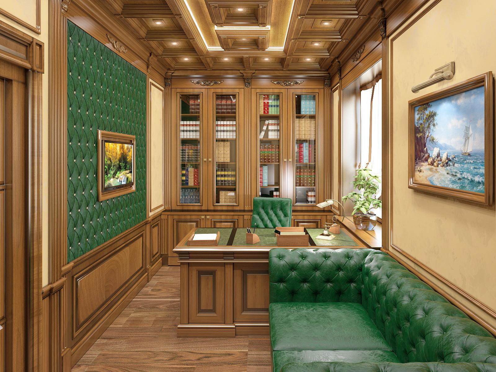 один кабинет в частном доме фото зверей